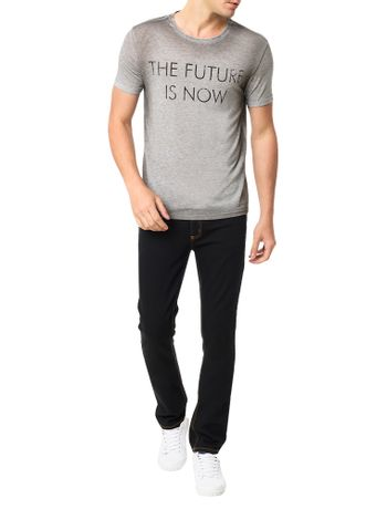 Camiseta-Calvin-Klein-Jeans-Frase-The-Future-Is-Now-Mescla