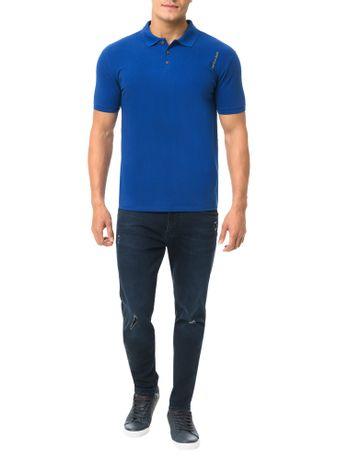 Polo-Calvin-Klein-Jeans-Logo-Vertical-Azul-Carbono