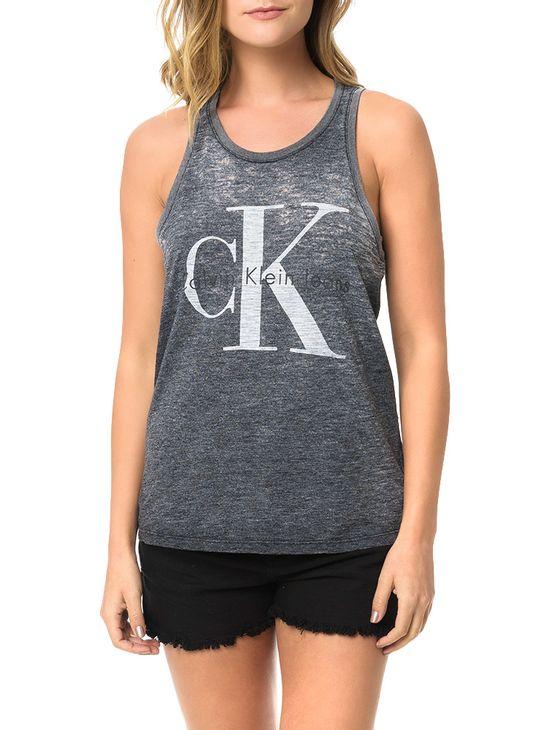 Blusa-Calvin-Klein-Jeans-Com-Estampa-Logo-e-Devore-Preto