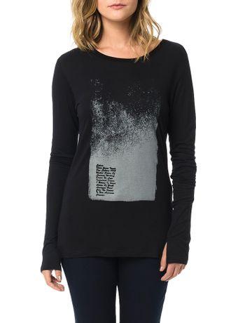Blusa-Calvin-Klein-Jeans-Com-Estampa-Escritos-Frontais-Preto