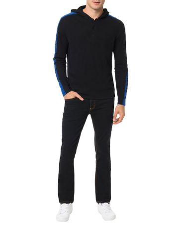 Camiseta-Calvin-Klein-Jeans-Recorte-Faixa-Manga-Preto