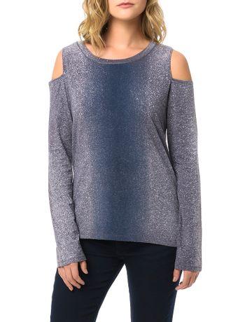 Blusa-Calvin-Klein-Jeans-Com-Abertura-Ombro-Estampa-Degrade-Marinho