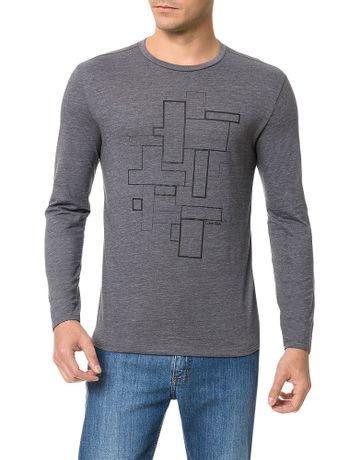 Camiseta-Slim-Calvin-Klein-Estampa-Tetris-Chumbo
