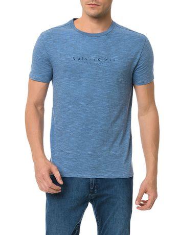 Camiseta-Flame-Mescla-Calvin-Klein-Logo-Espacado-Azul-Medio