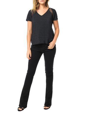 Blusa-Calvin-Klein-Jeans-Com-Recortes-Em-Tela-Preto
