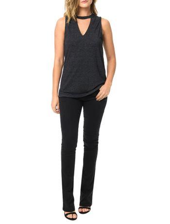 Blusa-Calvin-Klein-Jeans-Com-Abertura-No-Decote-V-Preto