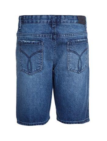 Bermuda-Jeans-Infantil-Calvin-Klein-Jeans-5-Pockets-Azul-Medio