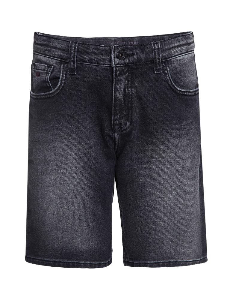 Bermuda Jeans Infantil Calvin Klein Jeans Five Pockets Preto ... 31dad4eb68