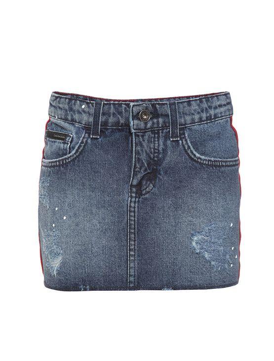 Saia-Jeans-Infantil-Calvin-Klein-Jeans-5-Pockets-Azul-Medio