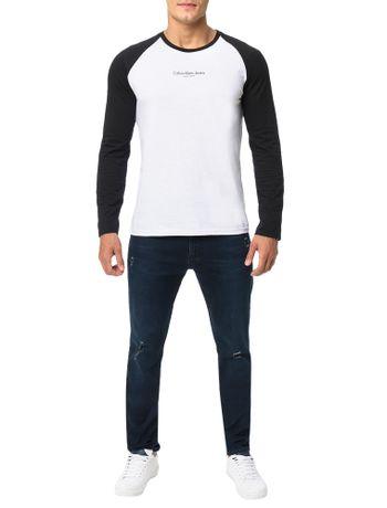 Camiseta-Calvin-Klein-Jeans-Estampa-Peito-Preto