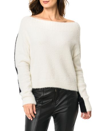 Blusa-Calvin-Klein-Bicolor-Off-White