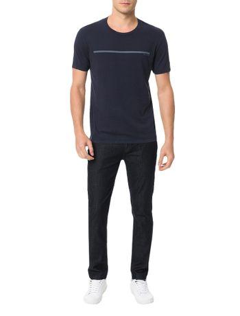 Camiseta-Calvin-Klein-Jeans-Estampa-Logo-Palito-Marinho