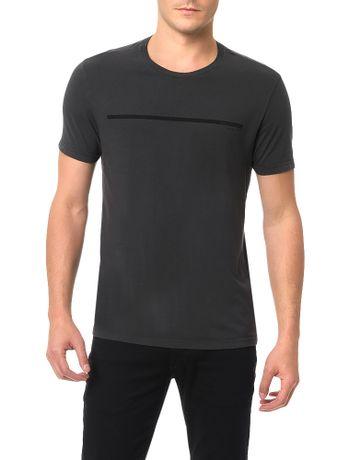 Camiseta-Calvin-Klein-Jeans-Estampa-Logo-Palito-Grafite