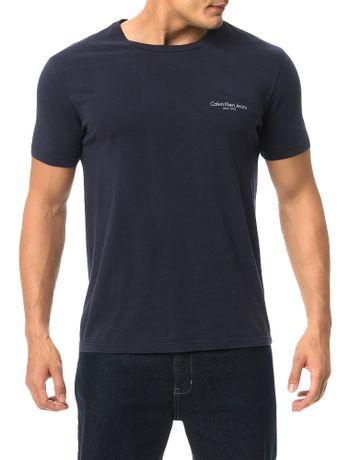 Camiseta-Calvin-Klein-Jeans-Estampa-Logo-Institucional-Marinho