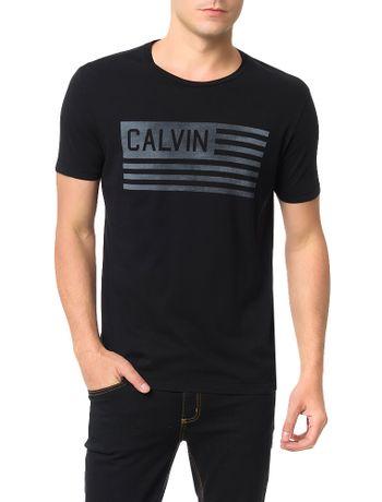 Camiseta-Calvin-Klein-Jeans-Estampa-Bandeira-Usa-Preto