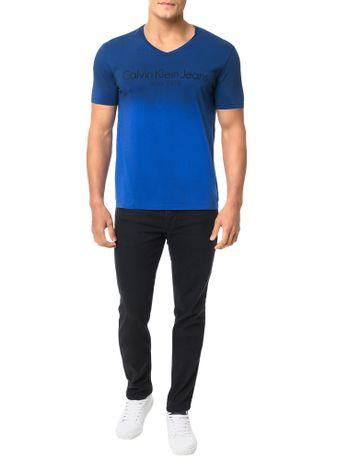 Camiseta-Calvin-Klein-Jeans-Logo-Degrade-Azul-Carbono