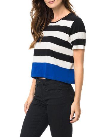 Blusa-Calvin-Klein-Jeans-Malha-Listrada-Com-Barra-Color-Preto