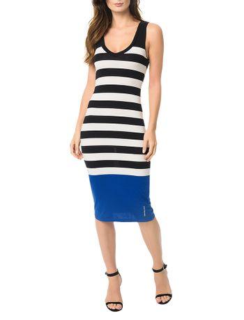 Vestido-Malha-Listrada-Calvin-Klein-Jeans-Preto