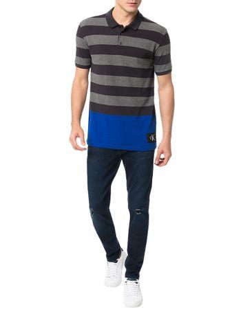Polo-Calvin-Klein-Jeans-Etiqueta-Ck-Chumbo