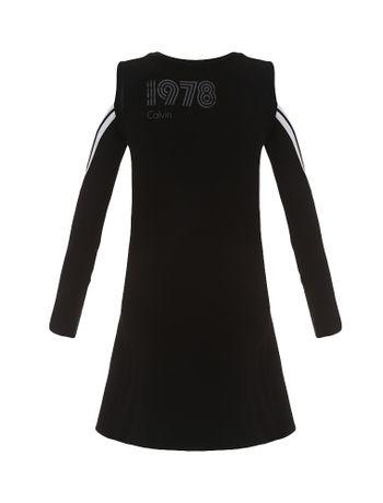 Vestido-Infantil-Calvin-Klein-Jeans-Detalhes-Retilinea-Preto