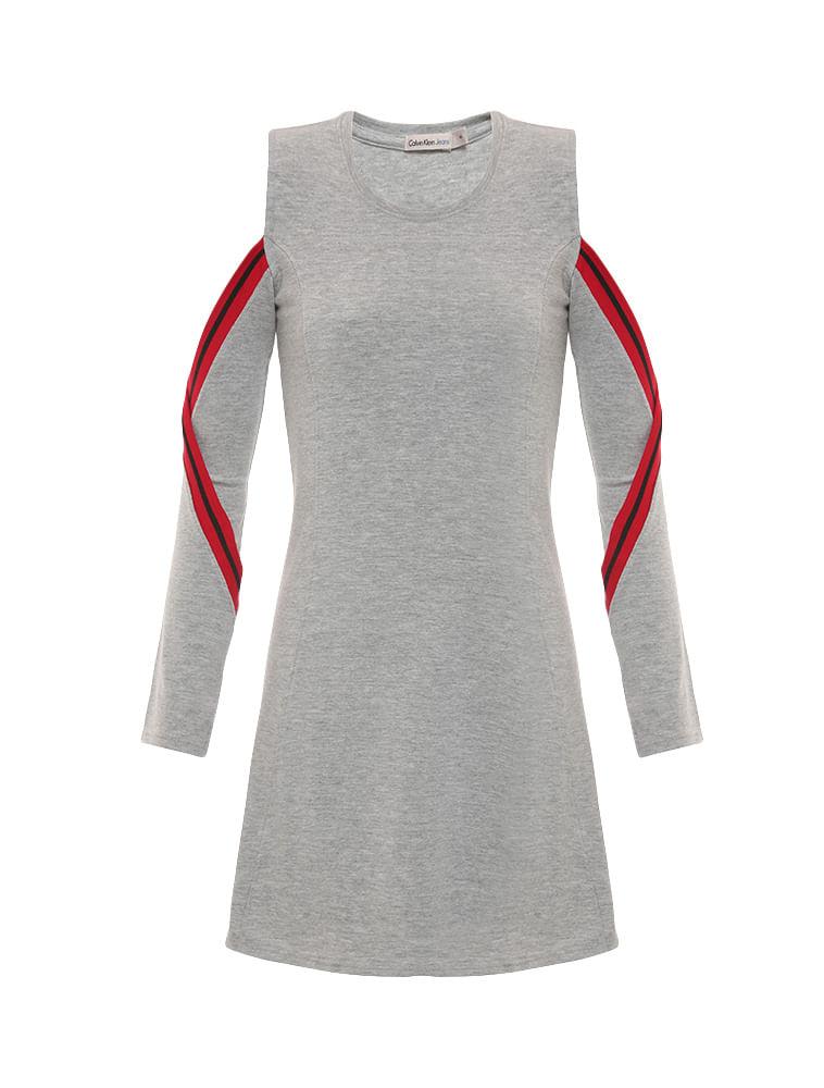 241547845bd0e Vestido-Infantil-Calvin-Klein-Jeans-Detalhes-Retilinea-Mescla. Loading zoom