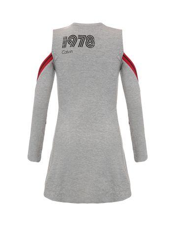 Vestido-Infantil-Calvin-Klein-Jeans-Detalhes-Retilinea-Mescla