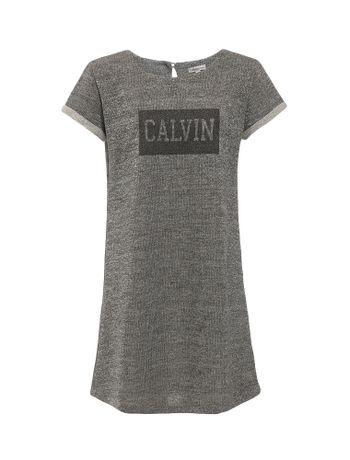 Vestido-Infantil-Calvin-Klein-Jeans-Brilho-E-Falso-Foil-Mescla
