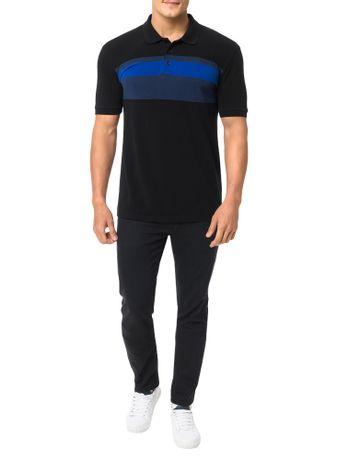 Polo-Calvin-Klein-Jeans-Faixas-Peito-Preto