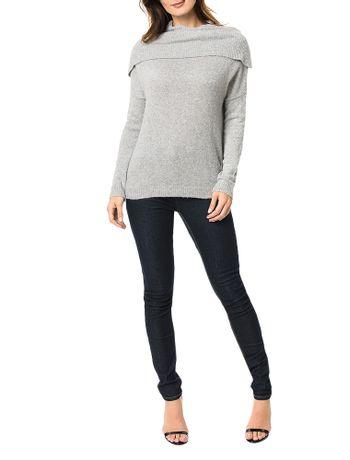 Tricot-Calvin-Klein-Jeans-Gola-Ampla-Cinza-Claro