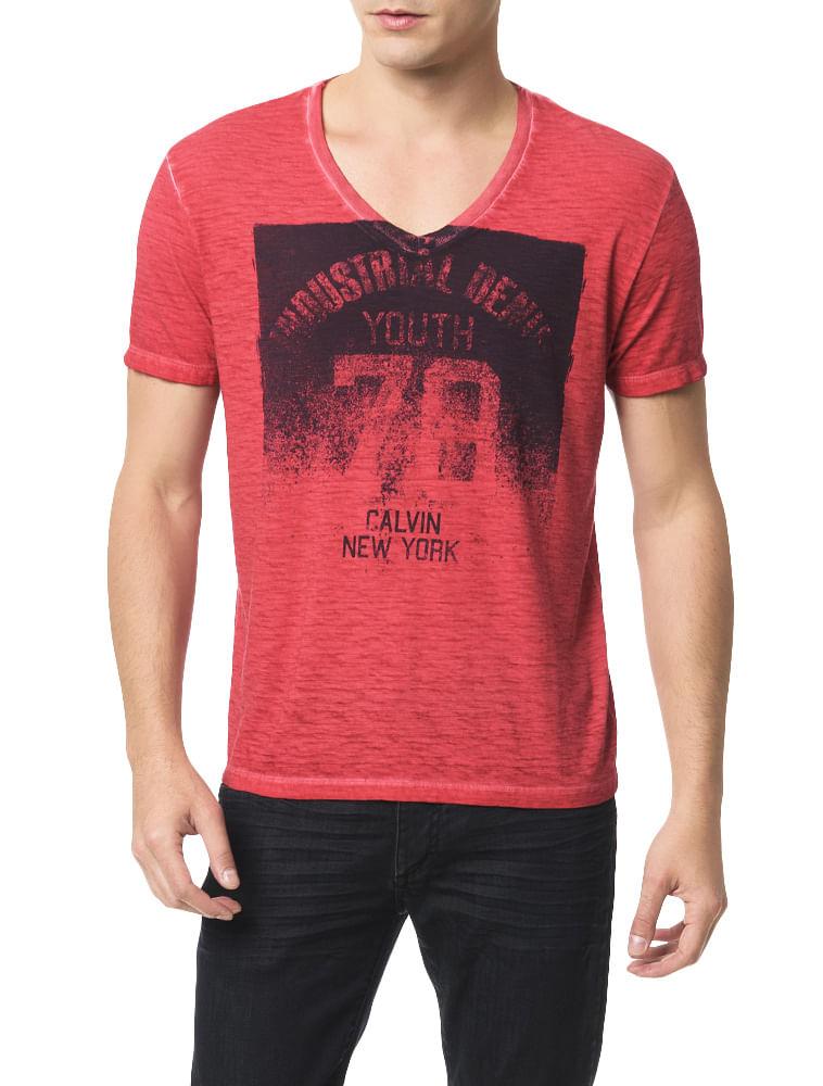 Camiseta-Calvin-Klein-Jeans-Estampa-Calvin-New-York-Vermelho. Loading zoom 6ffc7faadbd