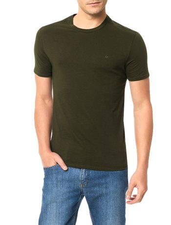 Camiseta-Slim-Calvin-Klein-Basica-Flame-Militar
