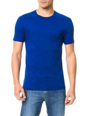 Camiseta-Slim-Calvin-Klein-Basica-Flame-Azul-Carbono
