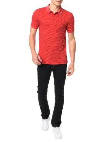 Polo-Slim-Calvin-Klein-Micro-Listrado-Vermelho