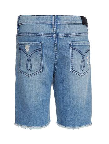 Bermuda-Jeans-Infantil-Calvin-Klein-Jeans-Five-Pockets-Azul-Claro