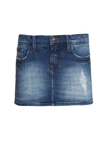 Shorts-Saia-Jeans-Infantil-Calvin-Klein-Jeans-Five-Pockets-Azul-Medio