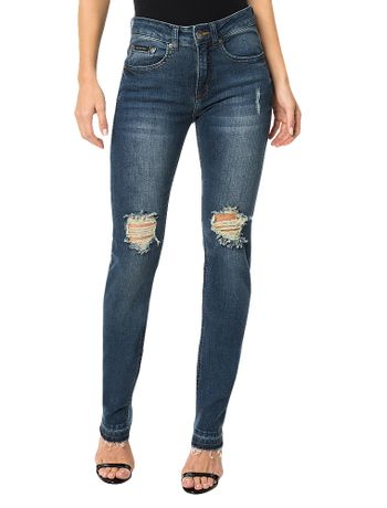 Calca-Calvin-Klein-Jeans-Five-Pockets-Skinny-High-Azul-Marinho