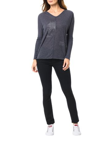 Blusa-Calvin-Klein-Jeans-Com-Estampa-e-Recorte-Frontal-Marinho