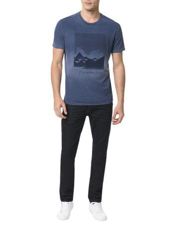 Camiseta-Calvin-Klein-Jeans-Estampa-Montanhas-Marinho