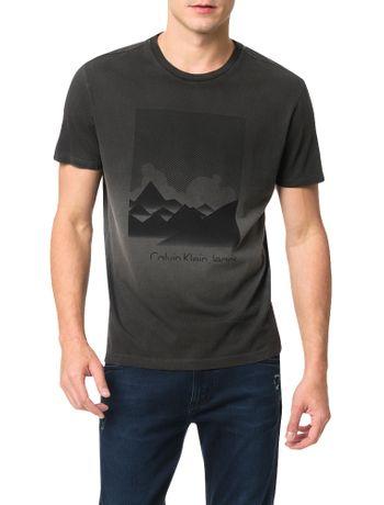 Camiseta-Calvin-Klein-Jeans-Estampa-Montanhas-Cinza-Grafite