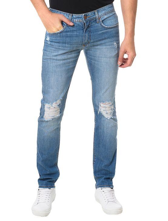 Calca-Calvin-Klein-Jeans-Five-Pockets-Super-Skinny-Azul-Medio