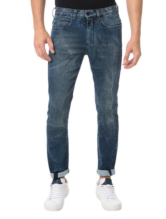 Calça Calvin Klein Jeans Five Pockets Slouchy Skinny Marinho ... be7b6f3d25