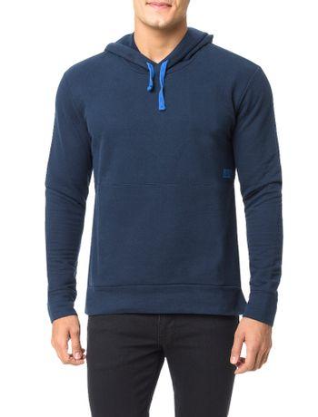 Casaco-Calvin-Klein-Jeans-Capuz-Ziper-Lateral-Marinho