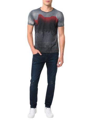 Camiseta-Calvin-Klein-Jeans-Estampa-Reticulada-Grafite