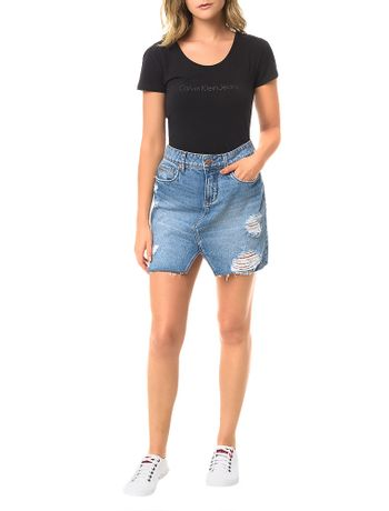 Saia-Calvin-Klein-Jeans-Five-Pockets-Azul-Medio