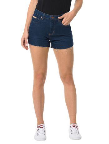 Shorts-Calvin-Klein-Jeans-Cintura-Alta-Five-Pockets-Azul-Medio