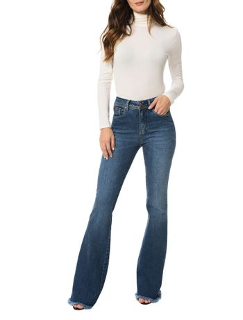 Calca-Calvin-Klein-Jeans-Five-Pockets-Flare-High-Azul-Medio