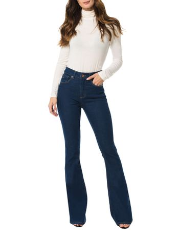 Calca-Calvin-Klein-Jeans-Five-Pockets-Flare-Sp-High-Azul-Medio