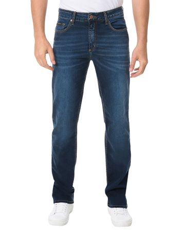 Calca-Calvin-Klein-Jeans-5-Pockets-Straight-Azul-Medio
