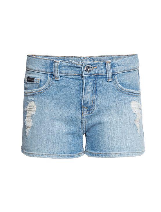 Shorts-Jeans-Infantil-Calvin-Klein-Jeans-Five-Pockets-Azul-Claro