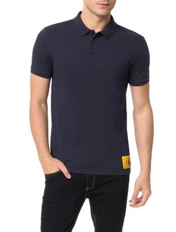 Polo-Calvin-Klein-Jeans-Etiqueta-Ck-Marinho